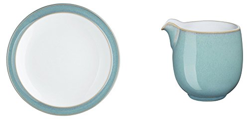 Denby Azure Tea Plate and Small Jug, Set of 2 by Denby