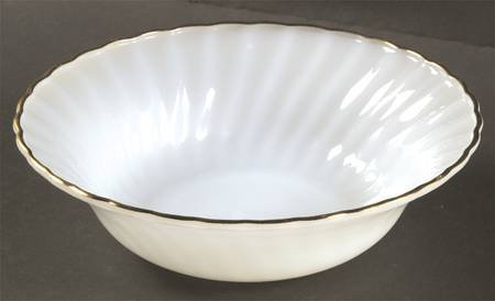 Round Vegetable Bowl in Golden Shell by Anchor Hocking - Fire (Fire King Golden Shell)