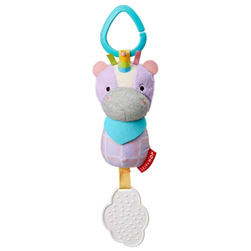 Skip Hop Bandana Buddies Baby Activity Chime & Teether Stroller Toy, Unicorn