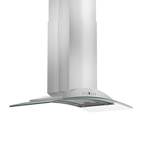 Z Line GL9i-30 Stainless Steel and Glass Island Mount Range Hood, 30-Inch