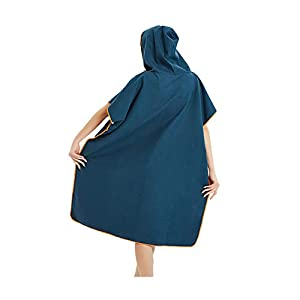 Changing Robe for Beach Bath Swimming Surf ,Hood Poncho Towel,quick dry towel dressing gown