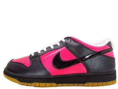 Nike Dames Dunk Laag Cerise / Black-white-gum Yellow