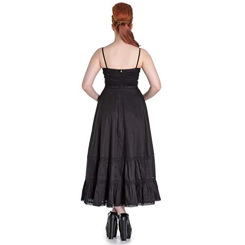 Elizabella Bunny Vestido Negro Bruja Wicca Steampunk Largo Hell Gótico Spin Doctor 4tCxgwwdq
