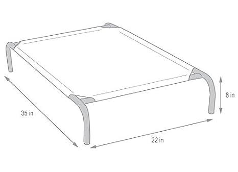 Gale Pacific The Original Elevated Pet Bed by Coolaroo - Small Grey: Amazon.es: Productos para mascotas