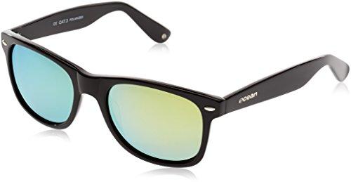 Ocean Sunglasses Beach wayfarer - lunettes de soleil polarisées - Monture : Noir Laqué - Verres : Revo Jaune (18202.2) 8P8abW