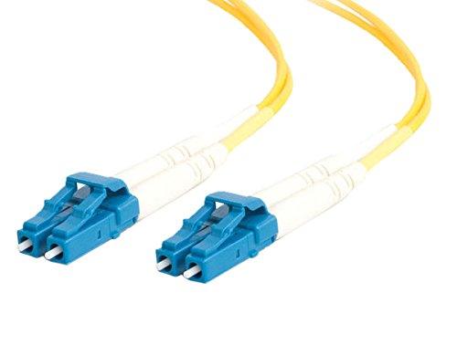 C2G 26264 OS2 Fiber Optic Cable - LC-LC 9/125 Duplex Single-Mode PVC Fiber Cable, Yellow (6.6 Feet, 2 Meters)