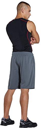 Basket Gris Hombre Komprexx 10 Rápido Shorts Deporte Fitess 2 Cortos Secado Pantalones Color Running x8waSqxgF