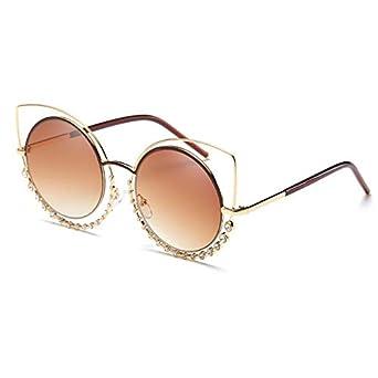 3ae7c3b01 Fashion Vintage Cat Eye Sunglasses Women Metal Swarovski Elements ...