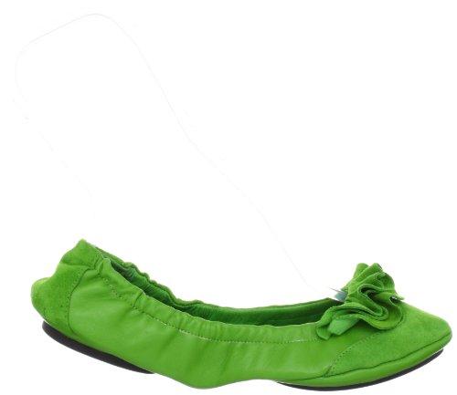 Lise Lindvig DOT 00800360 - Bailarinas de cuero para mujer Verde