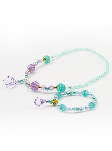 Little Adventures Necklace and Bracelet Princess Accessory Sets - Mermaid Princess (Little Mermaid Kids Costume)