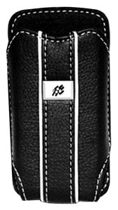 Cellular Innovations Black Leather Vertical Pouch for Blackberry Pearl ()