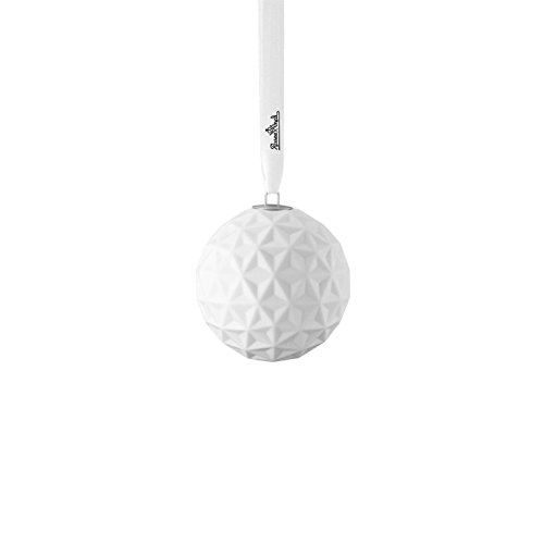 Price comparison product image Rosenthal Porcelain Ball Snowball Motive 2, white mat, 9 cm