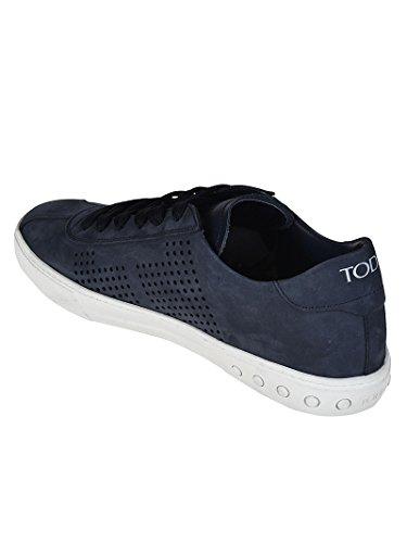 Tods Sneaker Basse in nabuk Blu Blu XXM0XY0X990D6Y
