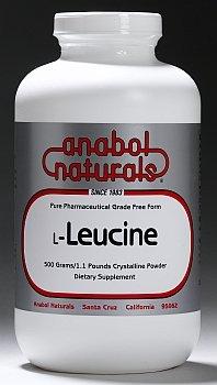 Anabol Naturals L-Leucine 100 gram Free Form Pure Crystalline Powder