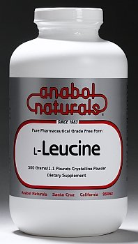 Anabol Naturals L-leucine 200 grammes Free Form poudre cristalline pure
