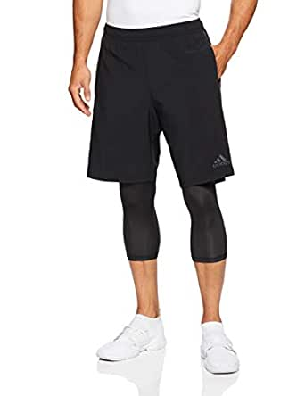adidas Men's CW7434 Tango Pl Short, Black, Small