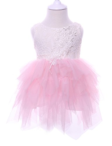 697b960ae Cilucu Flower Girls Dresses Baby Birthday Party Dress Toddlers Tulle Lace  Dress Pageant Beaded Dress Backless
