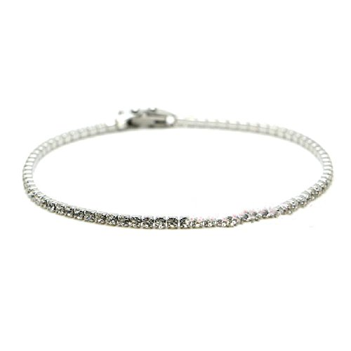 (Luccaful Stainless Steel Crislu Tennis Bracelet Lovely Gift For Women Fashion Jewelry White onesize)