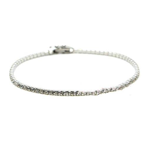 - Luccaful Stainless Steel Crislu Tennis Bracelet Lovely Gift For Women Fashion Jewelry White onesize