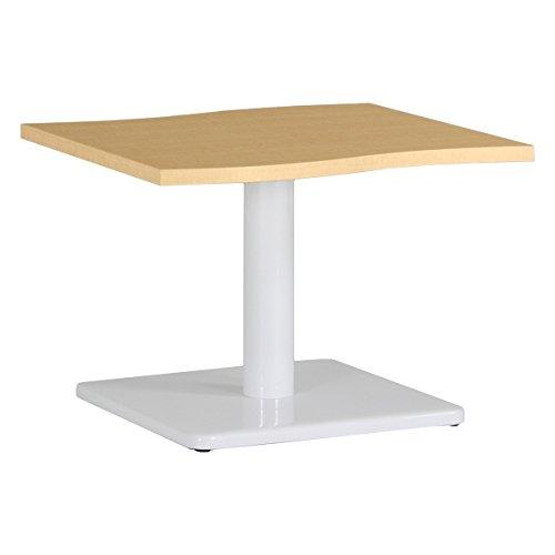 arne ローテーブル 木製 おしゃれ センターテーブル 幅60 奥行53 高さ42 日本製 デザインテーブル River6053L NT×WH B0785QB7ZK 高さ:42cm/天板サイズ:60×53|NT×WH NT×WH 高さ:42cm/天板サイズ:60×53