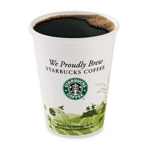 Hot Cups12 oz White with Green Logo 1000 per Carton