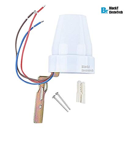 blackt electrotech day/nights auto on and off photocell ldr switch for 18  months assurance home automation (white): copper: amazon in: home  improvement