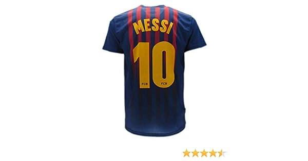 c99e9c4a7d Camiseta de Fútbol Lionel Leo Messi 10 Barcelona Barça Home Temporada 2018-2019  Replica Oficial con Licencia - Todos Los Tamaños NIÑO y Adulto  Amazon.es   ...