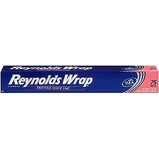 Reynolds Wrap Standard Aluminum Foil, 75 Square Ft(2/Pack)