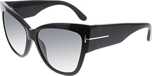 Sunglasses Tom Ford TF 371 FT0371 01B shiny black / gradient - Tom Ford Mens Sunglasses 2014