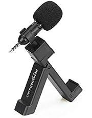 AmazonBasics - Micrófono para smartphone con clip