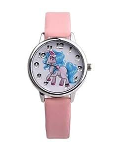Dasuke ni as unicorn reloj de pulsera de piel sint tica for Cancion jardin de rosas en ingles