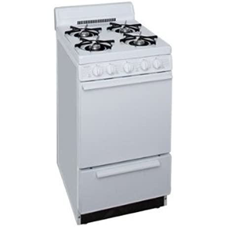 20 Gas Range W Electronic Ignition Standard Clean Oven 4 Porcelain Backguard White On