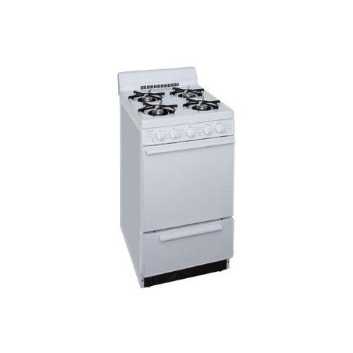 "Premier 20"" Freestanding Gas Range White SAK 100OP"