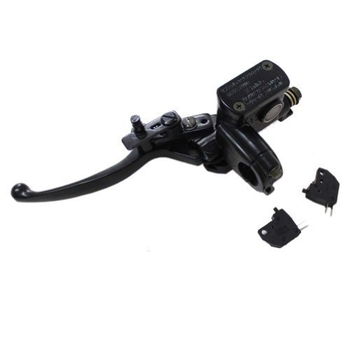 Poweka 50cc 70cc Brake Master Cylinder for 90cc 110cc 125cc 150cc 200cc 250cc Kids ATV Dirt Bike Left Hand Hydraulic Brake Master Cylinder with Handle Lever
