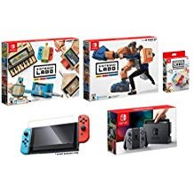 Nintendo Switch and Labo Deluxe Bundle (5items): Nintendo Labo Robot Kit, Nintendo Labo Variety Kit, Official Nintendo LABO Customization Set, Screen Protector and Nintendo Switch 32GB Console - Gray