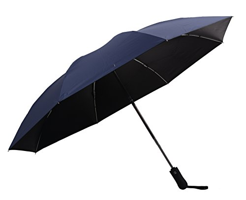 Automatic Open Reverse/Inverted Umbrella (Black/Navy Blue) - 7