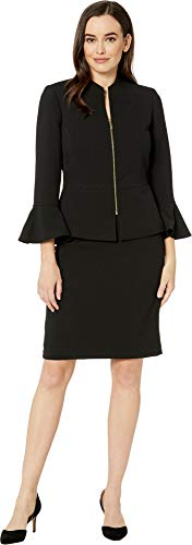 Tahari by ASL Women's Skirt Suit with Collarless Jacket Black 2 -