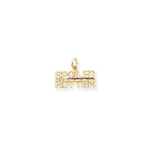 (Diamond2Deal 10k Yellow Gold Talking - Spoiled Rotten Charm)