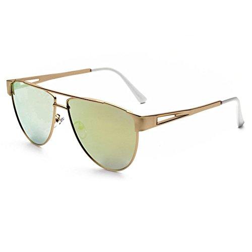 SRANDER Modern Fashion Full Metal Frame Flat Lens Aviator Sunglasses For Men Women - 1950s Ray Bans