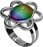 Beautiful Daisy Color Changing Mood Ring (Silver)
