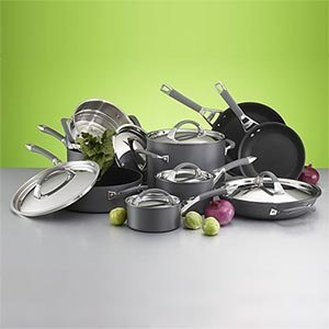 Kirkland Signature 15-Piece Hard Anodized Cookware Set
