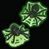 Glow in the Dark Spider Web Cupcake Rings - 12ct