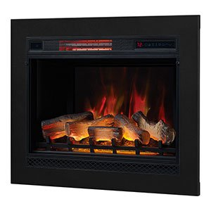 (Classic Flame 28-in 3D SpectraFire Plus Infrared Electric Insert & Trim Kit - 28II042FGL & BBKIT-28 )