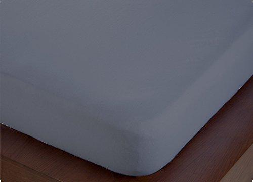 ForenTex - Sabana Bajera Ajustable, (S-4001), Gris, Cama 90 cm