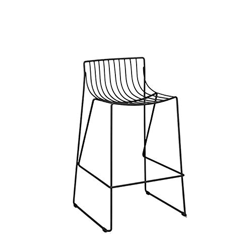 Iron Bar Chair Bar Stool High Chair Minimalist Restaurant Bar Cafe Outdoor Bar Stool Can Be Stacked Industrial Wind,65 cm Sitting Height1 ()