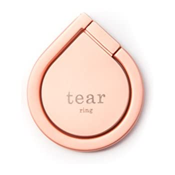 Finger Ring Stand by Tear Ring, Phone Ring Cell Phone Stand 360 With Finger Ring Grip Kickstand Compatible With iPhone 7, 7 Plus, Samsung Galaxy S7, S7 Edge, S8, S8 Plus (Rose Gold)