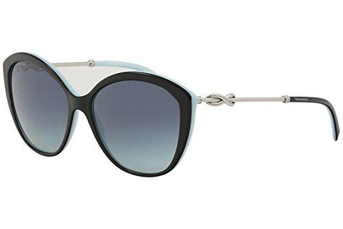- Tiffany & Co. TF4144B - 80559S Sunglasses BLACK/BLUE w/ AZURE GRADIENT BLUE Lens 57mm
