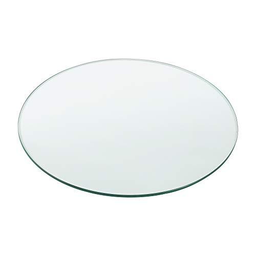 [Neu.Haus] Tablero de Vidrio para Mesa de Centro para Mesa de Comedor Placa Inferior para Chimenea Vidrio Templado Ø 600 x 8 mm