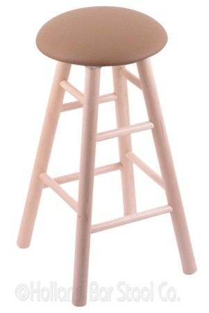 XL Maple Counter Stool in Natural Finish with Allante Beechwood - Maple Pub Finish Wood Bar