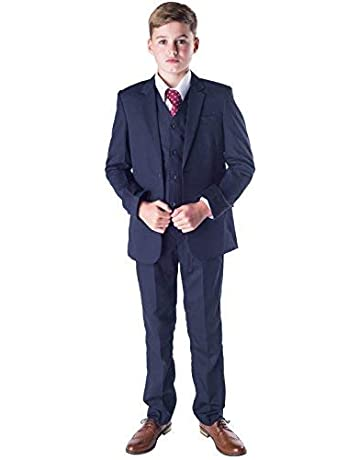 Boys Formal Wear 4 PC Beige Ivory Suits Pageboy Wedding Party Prom Kids Suit